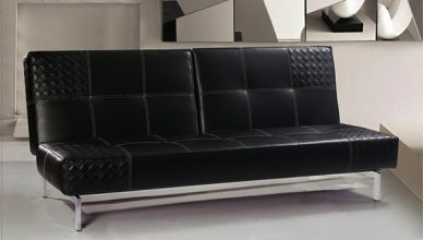 sofa giường bọc da