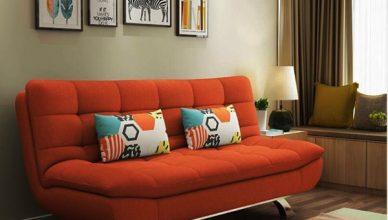 sofa giường bọc vải