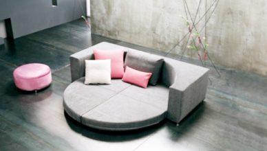 sofa giường tròn