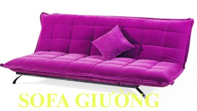 sofa giường tím 018